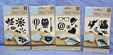 Inkadinkado Make your Own Stamps - Stamp Transfers for Carving: Lot of 4