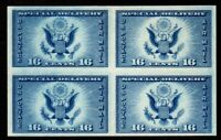 US Stamps: 771 Airpost Specail Delv Farley Special Printing Block of 4 M, ngai
