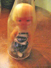 Vintage Cola Kids Doll Small Doll In A Bottle Blue Bibs