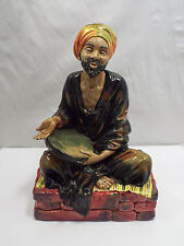 Royal Doulton Figurine Mendicant Hn1365, Man Sitting with Tambourine