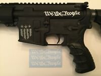 WE THE PEOPLE AR-15 Upper Receiver Sticker 3 Pack, Airsoft M4, AK, All Colors
