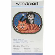 Cuddly Kittens Cats Latch Hook Kit Wonderart 426193