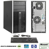 CLEARANCE Fast HP Desktop Tower Computer Core 2 Duo DDR3 WINDOWS 10 / 7 / XP Pro