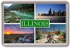 FRIDGE MAGNET - ILLINOIS - Large - USA America TOURIST