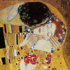 Gustav Klimt The Kiss detail Symbolist Abstract Romance Woman Print Poster 12x12