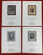 Lake Shore Part 1-4, U.S. Essays & Proofs, R.A. Siegel, Sales 888, 890, 900, 909