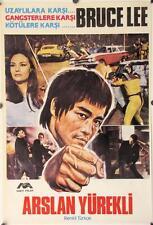 R174 ARSLAN YUREKLI Turkish movie Poster, '70s cool artwork of Bruce Lee