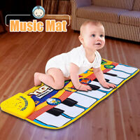 Kids Touch Play Learn Music Carpet Singing Piano Keyboard Mat Blanket Gift Toy