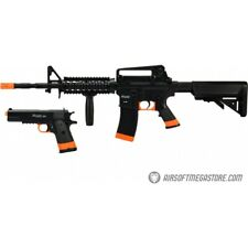 Sig Sauer Patrol Airsoft Gun Kit M4 AEG Rifle pistol and 5000 bbs BLACK ORANGE