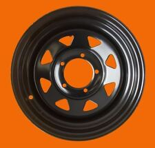 Raptor 4x4 HD Steel Wheel ET -20 6.5x15 Black Suzuki Samurai Jimny Vitara