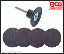 BGS - Werkzeug - 4 x 50 mm Grinding Disc's with Adapter  - Pro Range - 8590