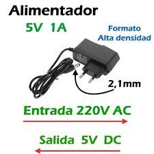 Alimentador 5V - 1A (1000 mA), Transformador de 220V AC a 5V DC .Alta densidad