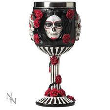 Kelch Sugar Skull Mystik Trinkkelch Rosenmotiv Larp Gothic Krug Gothik Rosen NEU