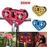 30kN/6700 Aluminum Zip Line Cable Trolley Fast Speed Climbing Pulley Rock