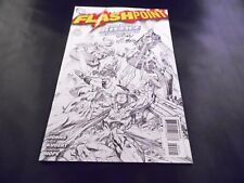 DC Comics Flashpoint #4 1:25 Andy Kubert Sketch Variant Cover Signed!
