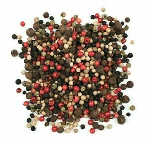 5 Colour Mixed Whole Peppercorns Dried (Black - White - Pink - Green - Pimento)