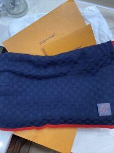 Louis Vuitton Mens Navy Blue Scarf