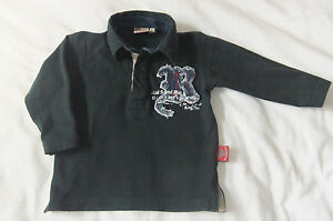BABY BOYS/ TODDLER 'RED SOUND' L/S POLO STYLE T-SHIRT AGE 12 MONTHS