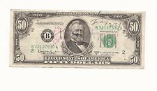 $50 1950  nice NEWYORK B SERIES , FIFTY DOLLARS  Bills United States Note -