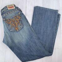 Big Star CASEY Low Rise Stretch Straight Leg Denim Blue Jeans Women's Sz 28L