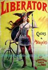 Cycles Liberator 1899 French Bicycle Vintage Poster Print Art Retro Style Advert