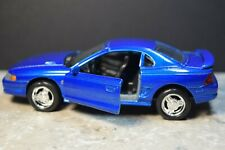 WELLY 1994 FORD MUSTANG GT w/ OPENING DOORS BLUE PULL BACK ACTION & RR 1/32