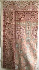 Beautiful Rare 19th C. French Cotton Printed Carpet Design Fabric   (2758)