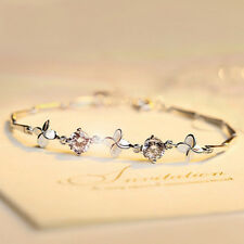 Fashion Women Lady Love Clover jewelry silver plated Bracelet  Love gifts