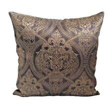 "Damascus Floral Satin Beige 18x18"" Decorative/Throw Pillow Case / Cushion Cover"