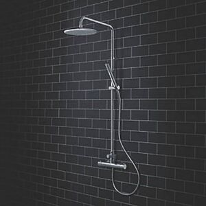 WATERSMITH NEWLYN EXPOSED FIXED HEAD & RISER RAIL THERMOSTATIC MIXER SHOWER