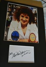 "ANITA DOBSON  AUTOGRAPH SIGNED  CARD (10"" X 8"" PHOTO) (EASTENDERS) COA 55"