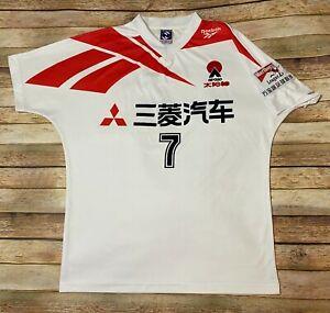 GUANGZHOU APOLLO FC Jersey #7 Hu Zhijun Rare 1995 Reebok MITSUBISHI Soccer Large
