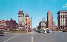 SYRACUSE, NY New York  ERIE BLVD~Soldiers & Sailors Monument 50's CARS  Postcard