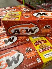 A&W Root Beer Soda Drink  4 cases of 12 x 355ml = 48 cans - Free Shipping