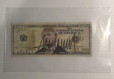 President Donald Trump Autographed Signed $1000 Bill with Coa