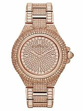 NEW MICHAEL KORS CAMILLE MK5862 ROSE GOLD PAVE LADIES WATCH -  2YEARS WARRANTY