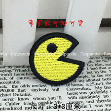 PacMan PC Man Game sew iron on embroidered patch CARTOON Ghost Applique BD-050