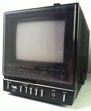 TMK Portable TV Monitor Display AC DC Battery VHF UHF Audio Video Input