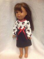 Fit Wellie Wishers American Girl 14.5 doll Scottie dog dress nightgown pajamas