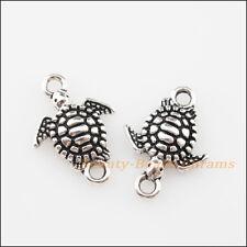 16Pcs Tibetan Silver Tone Sea Turtle Charms Pendants Connectors 13.5x19mm