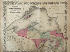 J.H. Colton's 1859 Atlas Map of Lake Superior and Michigan