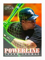 Frank Thomas #9 (1996 Flair) Powerline Insert Card, Chicago White Sox, HOF