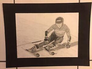 Pencil Sketch Of Mikaela Shiffrin - USA - Alpine Skiing