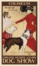 "GEORGE FORD MORRIS-CHICAGO KENNEL CLB'S DOG SHOW-ART PRINT POSTER14"" X 11""(3145)"