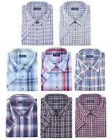 Mens Tom Hagan Papa Shirt King Size Check Pattern Casual Formal 3XL 4XL 5XL 6XL