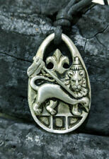 Lion of Judah Rasta Silver Pewter Charm Necklace Pendant Jewelry
