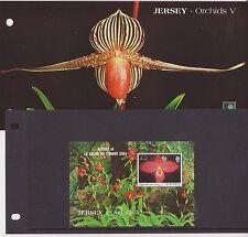 JERSEY PRESENTATION PACK 2004 ORCHIDS V STAMP MINIATURE SHEET OVERPRINTED PARIS