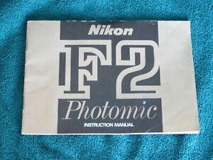 Original Printed Nikon F2 Photomic Instruction Manual F2 DP-1 FREE USA SHIP