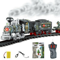 Classic rechargeable electric remote control steam trains children's toys suit