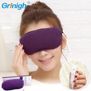 Lila Grau Tempur Schlafmaske  Reise Augenbinde Mask Schlafbrille DE